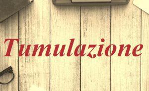 Tumulazione Roma